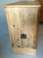 Stripped Pine Two Door Storage Cupboard (5 of 7)