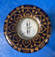 Victorian Burr Maple Thermometer & Compass by Thomas Barton (4 of 14)