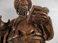 Decorative & Rare Complete Carved Walnut Sculpture of Hieronymus with the Lion (11 of 12)