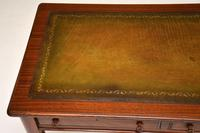 Antique Victorian Mahogany Leather Top Writing Desk (9 of 10)