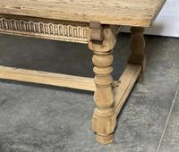 Superb Quality Large Bleached Oak Farmhouse Dining Table (5 of 32)