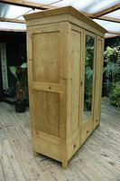 Superb! Old Triple Door 'Knock Down' Pine Combination Wardrobe - We Deliver! (7 of 11)