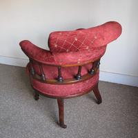Victorian Walnut Tub Back Chair (3 of 8)