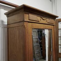 Victorian Arts & Crafts Golden Oak Mirrored Wardrobe (4 of 9)