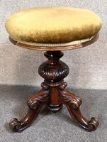 Victorian Rosewood Piano Stool c.1860 (2 of 6)
