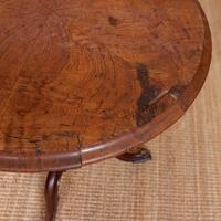 Georgian Walnut Oak Tripod Lamp Table (10 of 10)