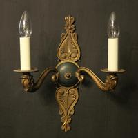 French Pair of Gilded Empire Antique Wall Lights (2 of 10)