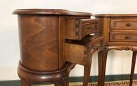 Vintage French Cherrywood Cabinets Kidney Shaped Bedside Tables (4 of 10)
