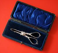 Victorian Silver Sugar Nips / Tongs - Collectable / Silver Knives 1890s
