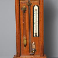 Victorian Carved Oak Admiral Fitzroy Barometer (4 of 6)
