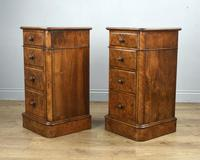 Stunning Pair of Burr Walnut Bedside Chests of Drawers (3 of 5)