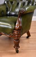 William IV Hand Dyed Leather Armchair (10 of 12)