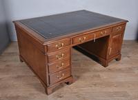 Antique 19th Century Mahogany Partners Desk (2 of 6)