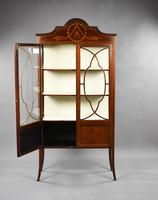 Antique English Edwardian Mahogany Display Cabinet (5 of 8)