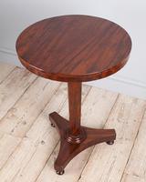 Mahogany Pedestal Lamp Table (2 of 5)