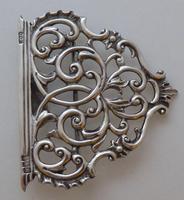 Rare Scottish Victorian 1897 Hallmarked Solid Silver Nurses Belt Buckle Glasgow (6 of 8)