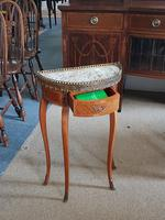 Small french Demi Lune Marble Top table (3 of 4)