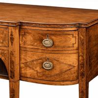 George III breakfront yew-wood inlaid mahogany sideboard (5 of 10)