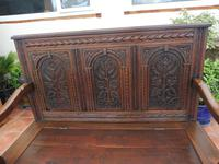 Country Oak Cottage Settle 1820 (6 of 10)