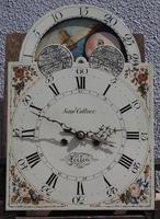 19th Century English Longcase Clock in Mahogany Painted Moon Roller Dial 8-Day Signed Sam Collier Eccles (2 of 6)