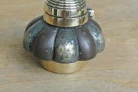 Fine English Victorian Brass Inkwell with Japanese Shakudo Inspired Pottery Ink Pot Reg Diamond for 1883 (10 of 10)