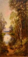 """Oil Painting Pair by Ernest Charles Walbourn """"A Tranquil River Scene"""" (2 of 5)"""