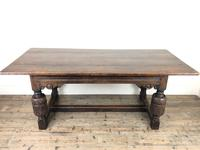 Antique Carved Oak Refectory Dining Table (2 of 15)