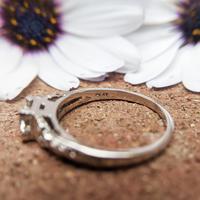 Art Deco Platinum Diamond Solitaire Ring, Antique Diamond Engagement Ring (6 of 8)