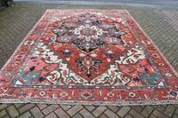Fine Antique Heriz Room-size Carpet 389x283cm (5 of 11)