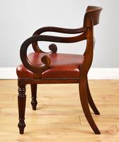 19th Century Regency Mahogany Open Armchair (5 of 9)