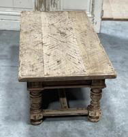 Rustic French Bleached Oak Coffee Table with 2 Drawers (13 of 19)