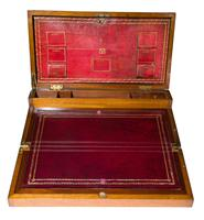 Early 19th Century Brassbound Mahogany Writing Slope with fitted interior (8 of 8)