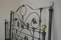 Antique Victorian Brass & Iron King Size 5ft Bedstead (7 of 14)