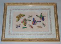 Fine Antique Pair of Chinese Paintings Butterflies & Insects on Pith (6 of 10)