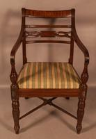 Rare Set of 10 Regency Period Mahogany Dining Chairs (6 of 17)