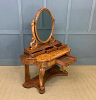 Victorian Period Burr Walnut Duchess Dressing Table (15 of 18)