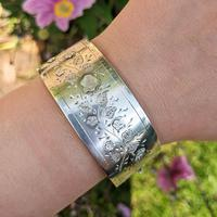 Antique Victorian Sterling Silver Aesthetic Movement Bangle, 1884 (9 of 9)