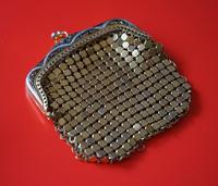 Vintage Miniature Gilt Damascening Metal Purse - Lovely Present (4 of 6)