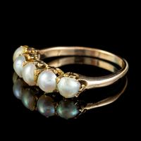 Antique Victorian Pearl Ring 15ct Gold c.1900 (5 of 6)