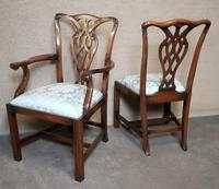 Set of Eight Mahogany Chippendale Style Chairs G.t.rackstraw - Droitwich (5 of 12)