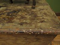 Large Antique Old Painted Green Distressed Pine Trunk Chest, Rustic Blanket Box (17 of 18)