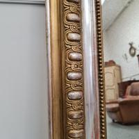 Antique French Gold & Silver Gilded Mirror c.1880 (2 of 4)