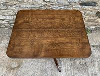 Georgian Oak Rectangular Tilt Top Occasional Table (4 of 16)