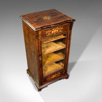 Antique Music Cabinet, English, Rosewood, Display Case, Inlay, Victorian c.1870 (7 of 12)
