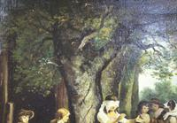 Pair of Early 19th Century Country Genre Scenes Oil on Canvas (9 of 21)