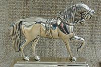 Fine Pair of Victorian Cast Brass Horse Hearth Ornaments Door Stop Door Porter (3 of 7)