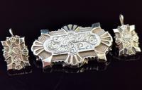 Victorian Silver Demi Parure, Earrings & Brooch (4 of 14)