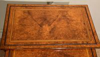 Sheraton Period Amboyna Inlaid Nest of Tables (3 of 6)