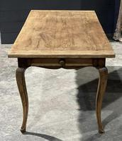 French Oak Farmhouse Kitchen Dining Table (15 of 18)