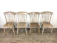 Set of Four Antique Farmhouse Kitchen Chairs (2 of 14)